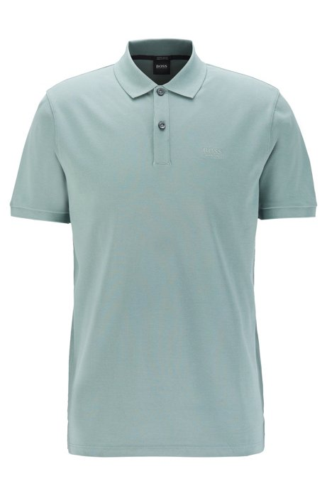 Polo regular fit in piqué elegante, Calce
