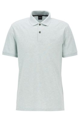 Polo regular fit en piqué fino, Cal