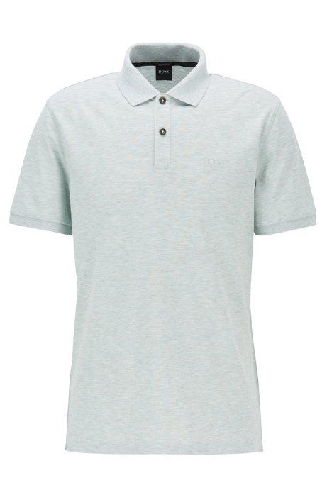 Regular-fit polo shirt in fine piqué, Light Green