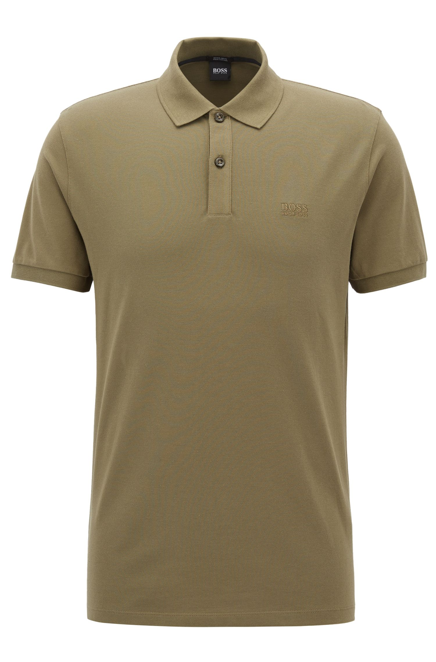 Polo regular fit en piqué fino