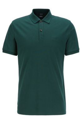 Regular-Fit Poloshirt aus feinem Piqué, Grün