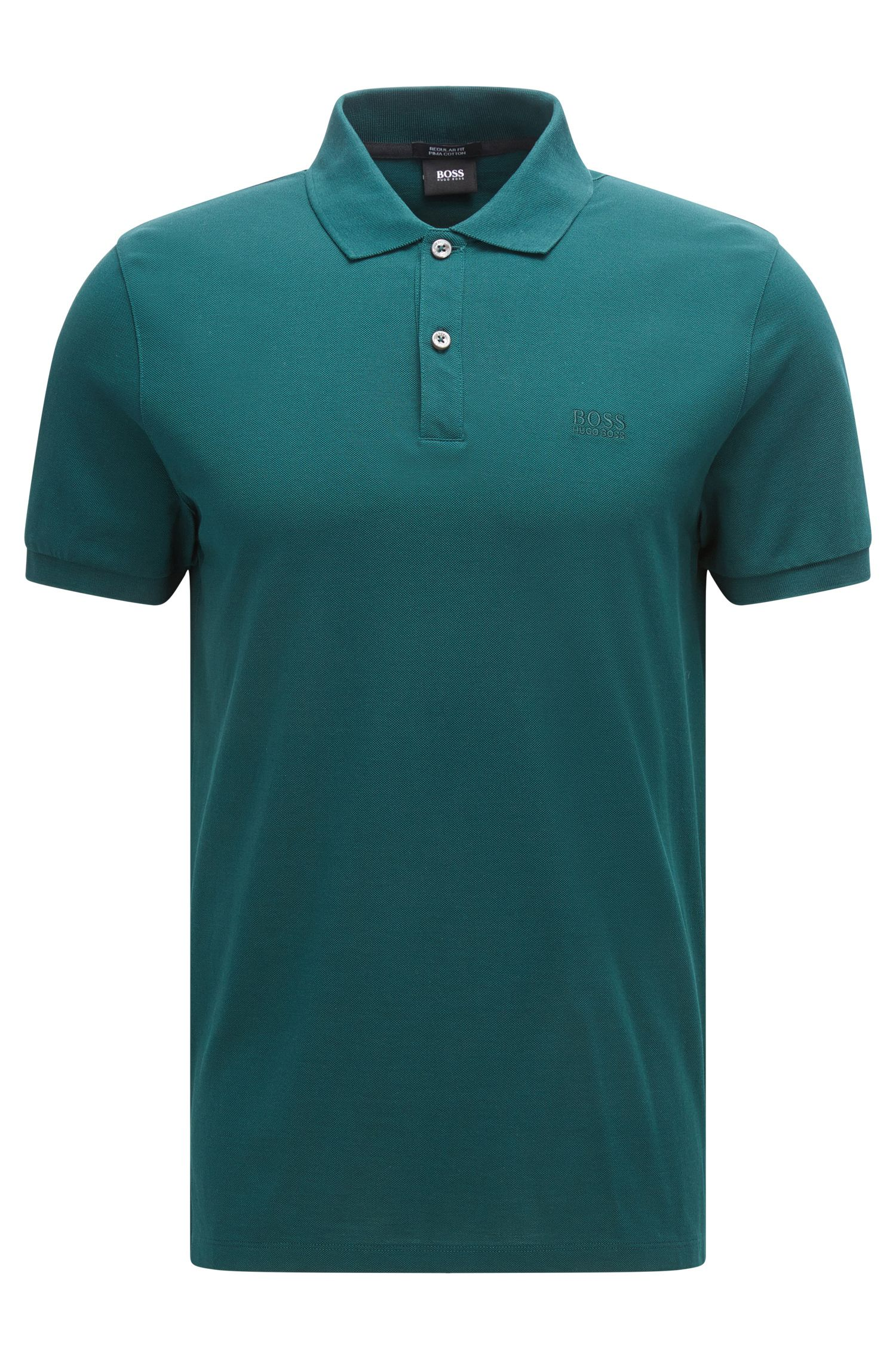 Polo Regular Fit en piqué fin