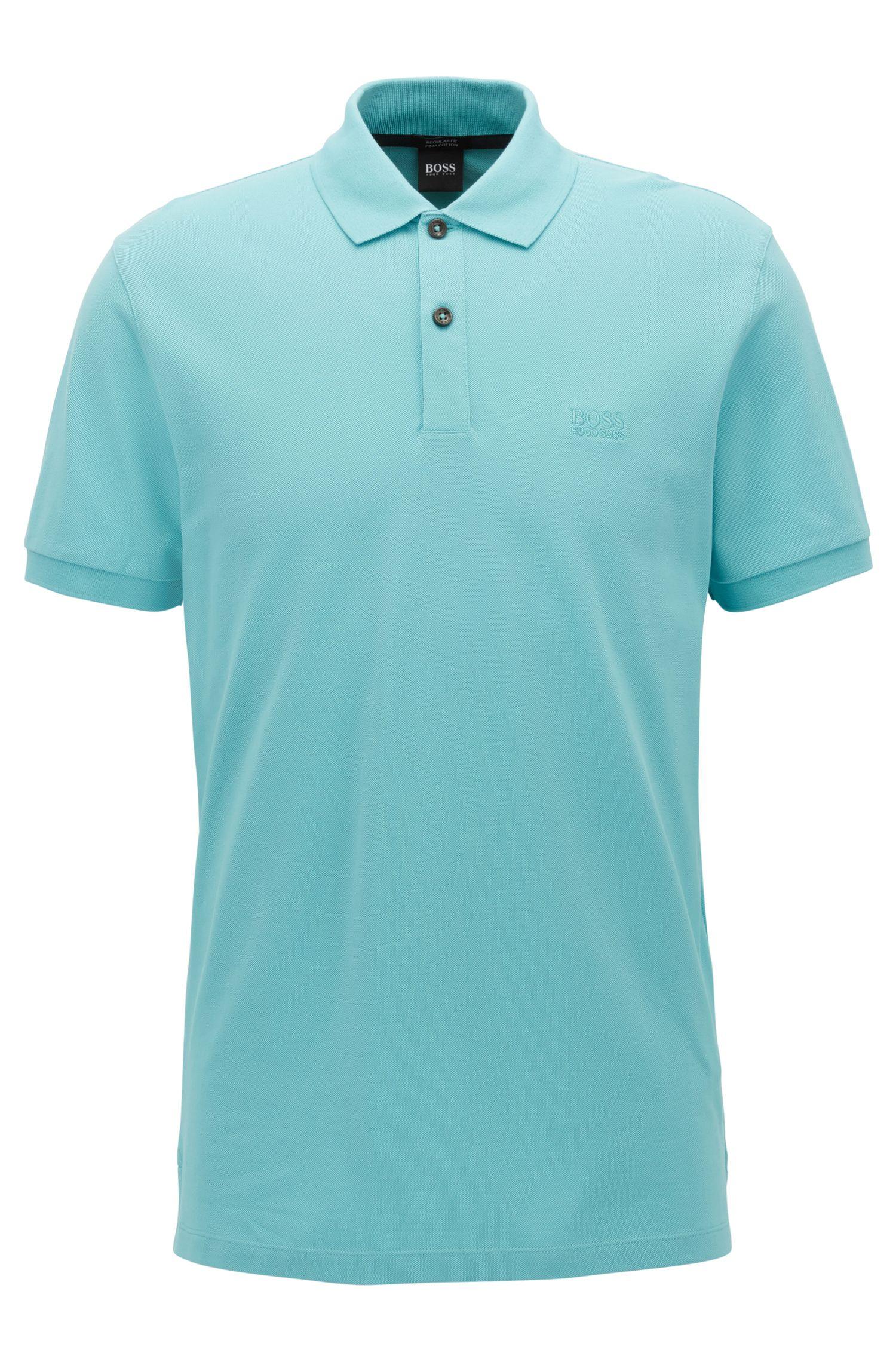Regular-fit polo shirt in fine piqué