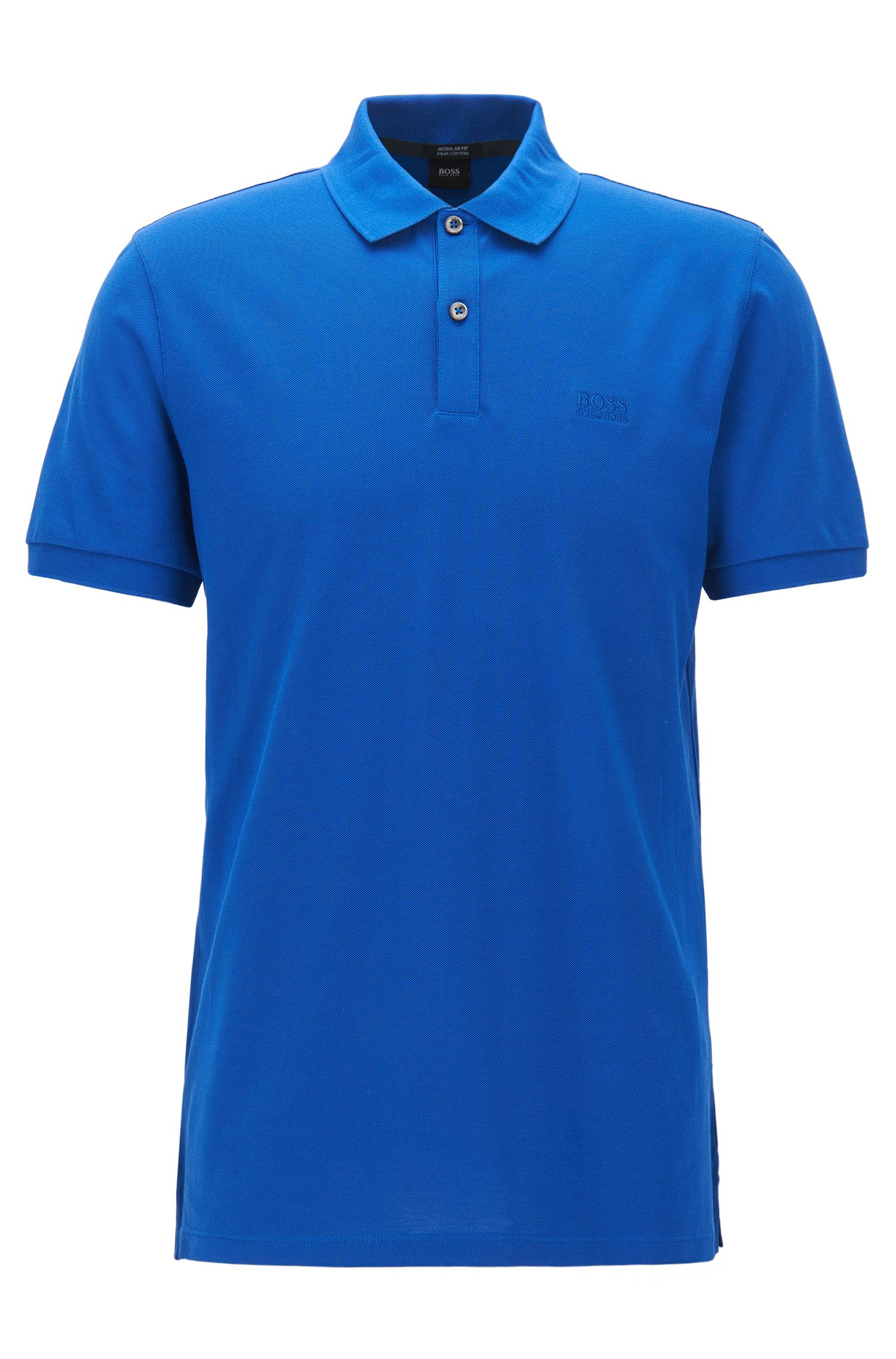 Regular-fit poloshirt van fijne piqué