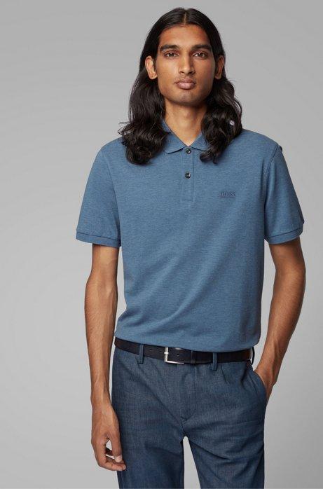 Regular-Fit Poloshirt aus feinem Piqué, Blau