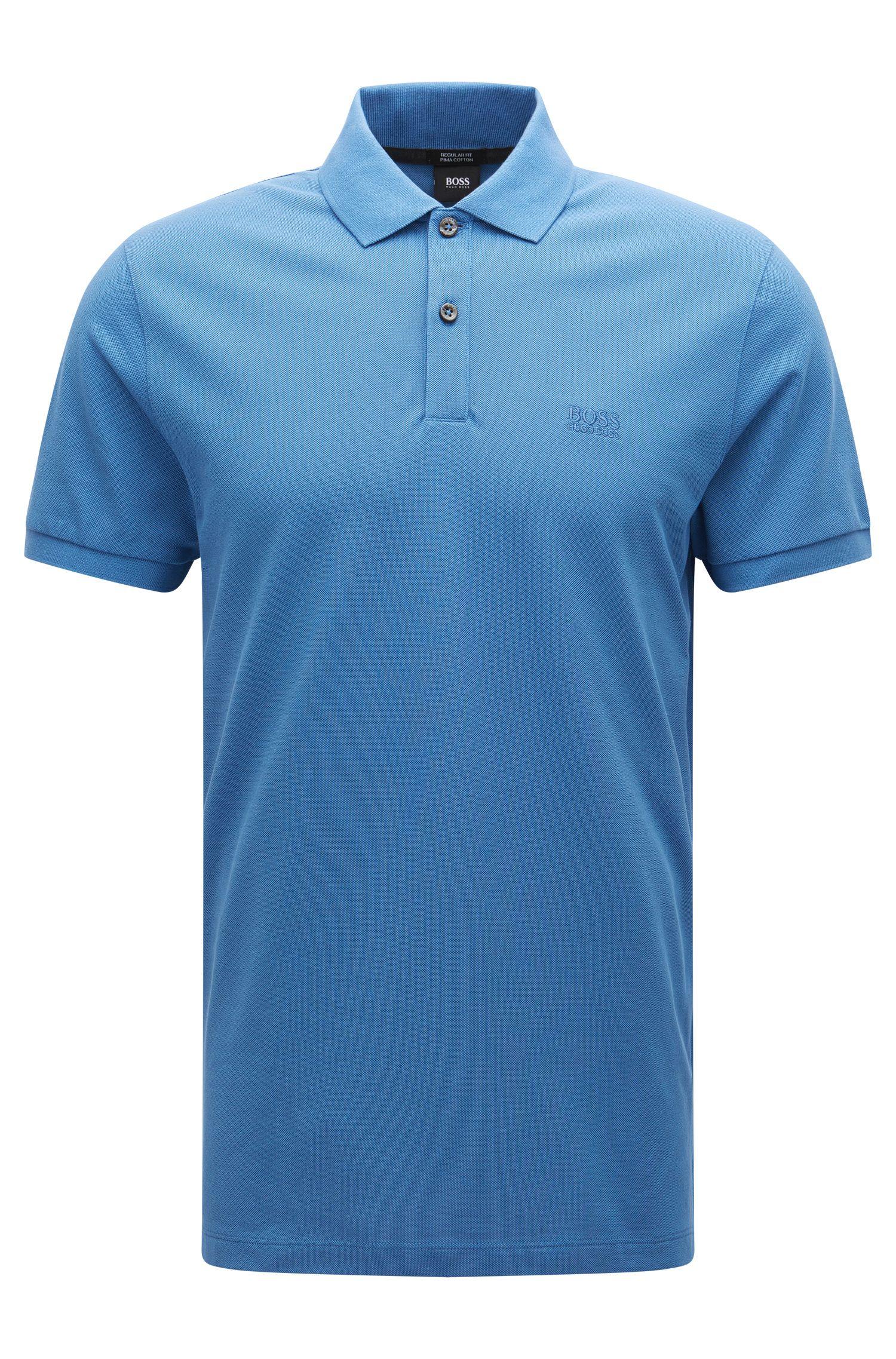 Regular-Fit Poloshirt aus feinem Piqué