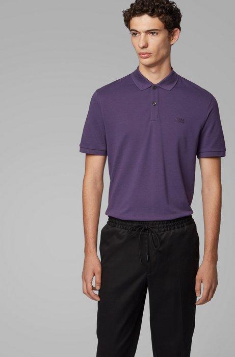 Regular-Fit Poloshirt aus feinem Piqué, Dunkel Lila