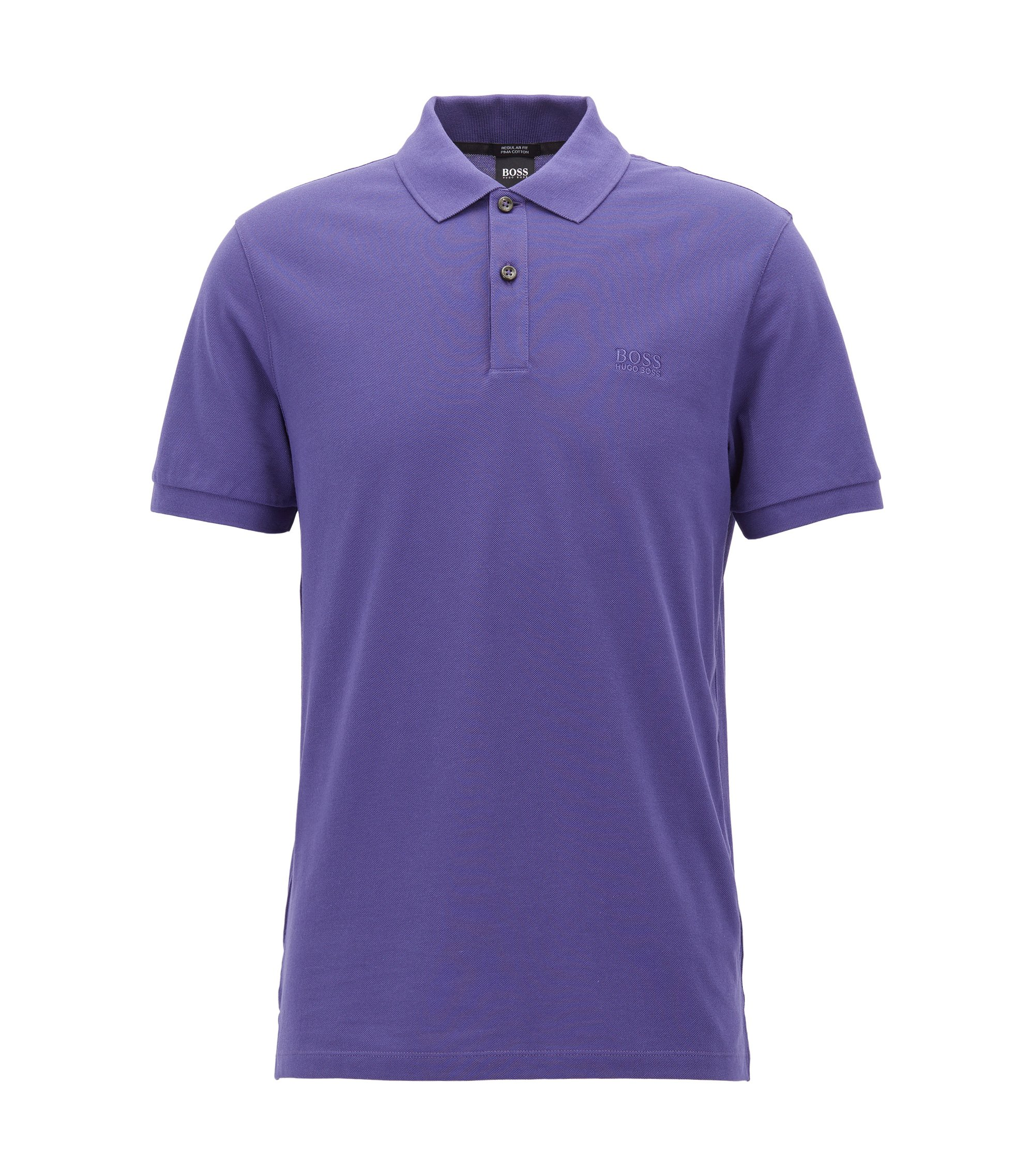 Regular-Fit Poloshirt aus feinem Piqué, Lila