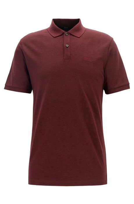 Regular-fit poloshirt van fijne piqué, Donkerrood