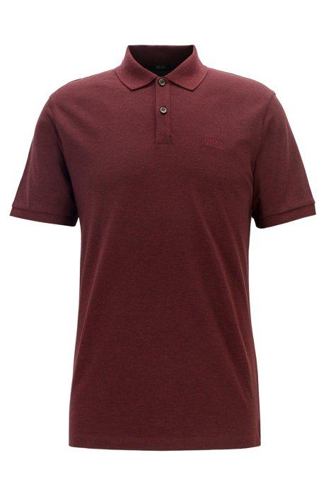 Regular-Fit Poloshirt aus feinem Piqué, Dunkelrot