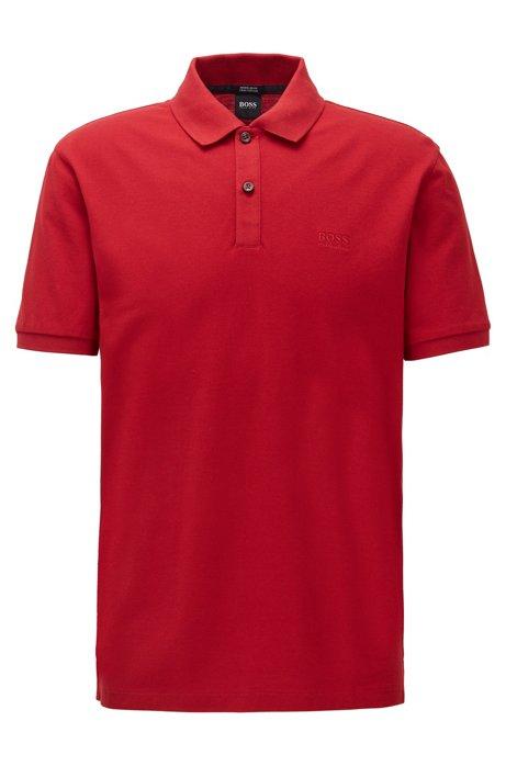 Regular-Fit Poloshirt aus feinem Piqué, Rot