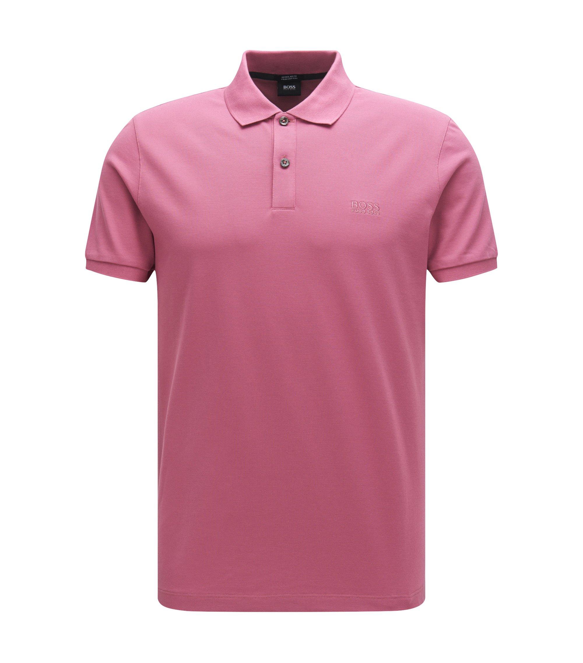 Regular-Fit Poloshirt aus feinem Piqué, Pink