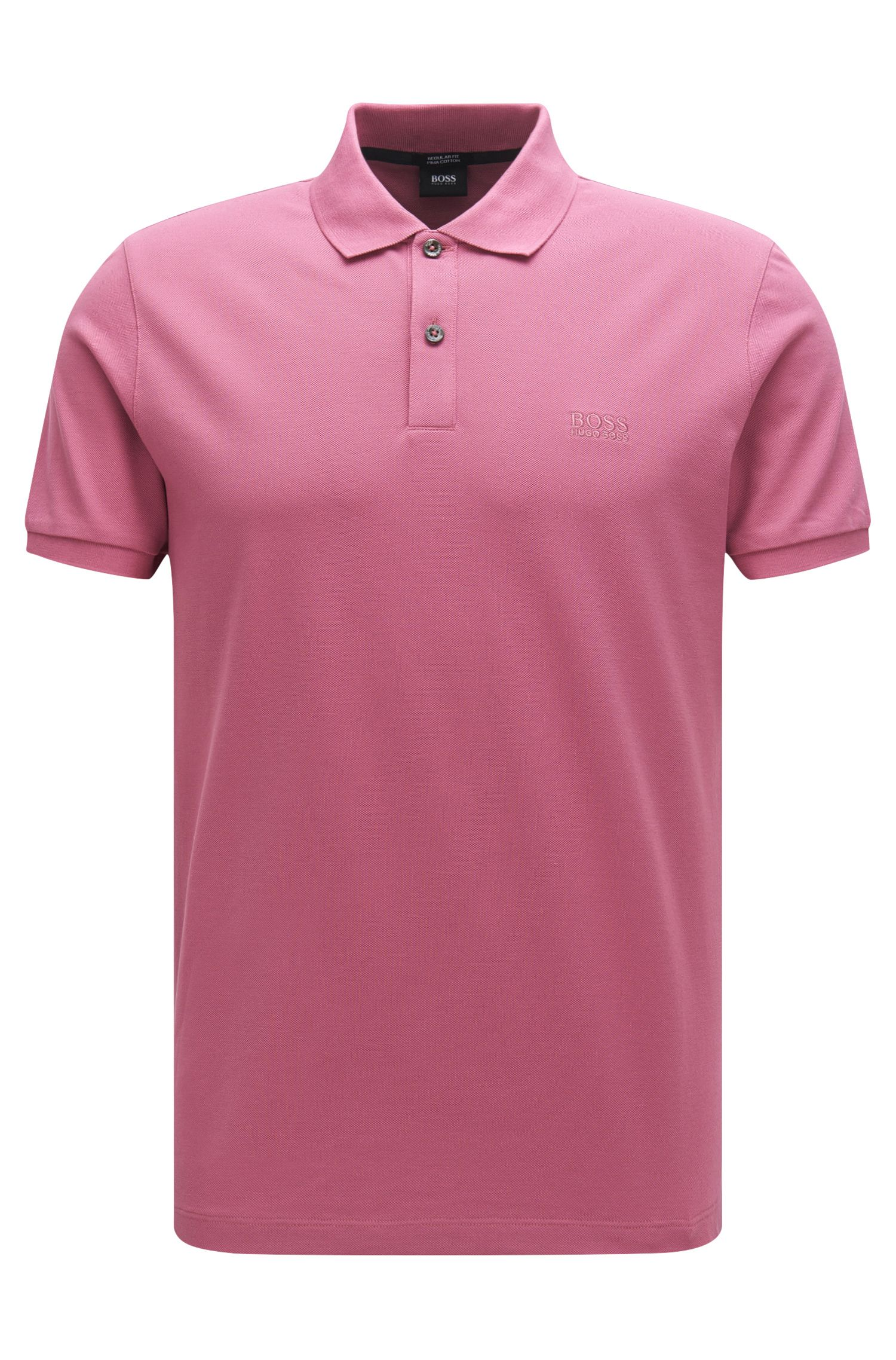 Polo Regular Fit en piqué fin, Rose