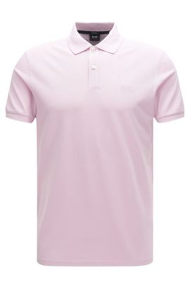 Regular-fit polo shirt in fine piqué, light pink