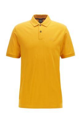 Regular-Fit Poloshirt aus feinem Piqué, Gelb