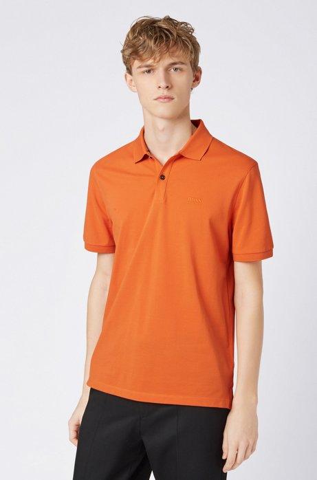 Regular-fit poloshirt van fijne piqué, Oranje