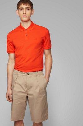Polo Regular Fit en piqué fin, Orange
