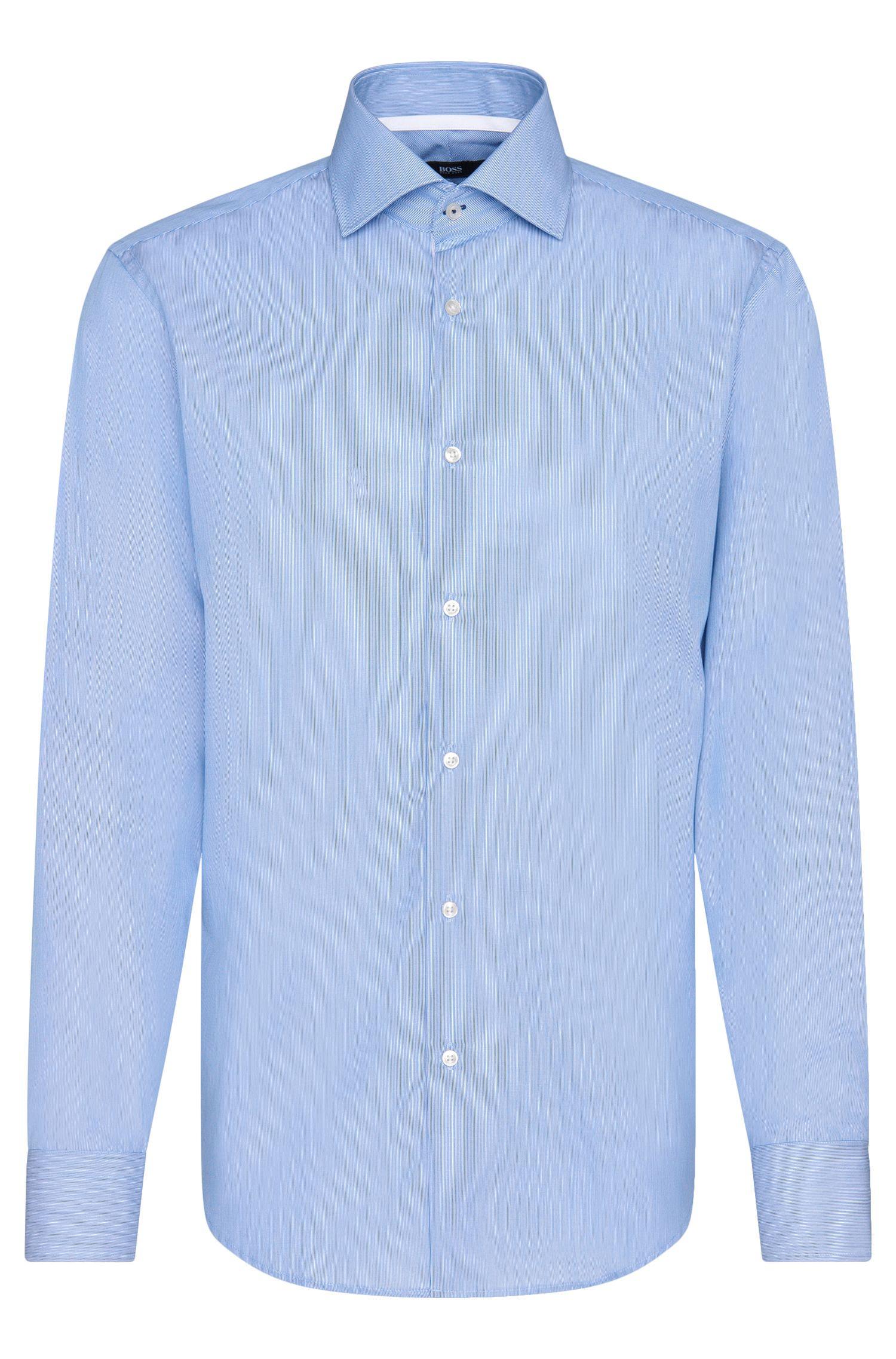 Gestreiftes Regular-Fit Hemd aus bügelleichter Baumwolle: 'Gregory'