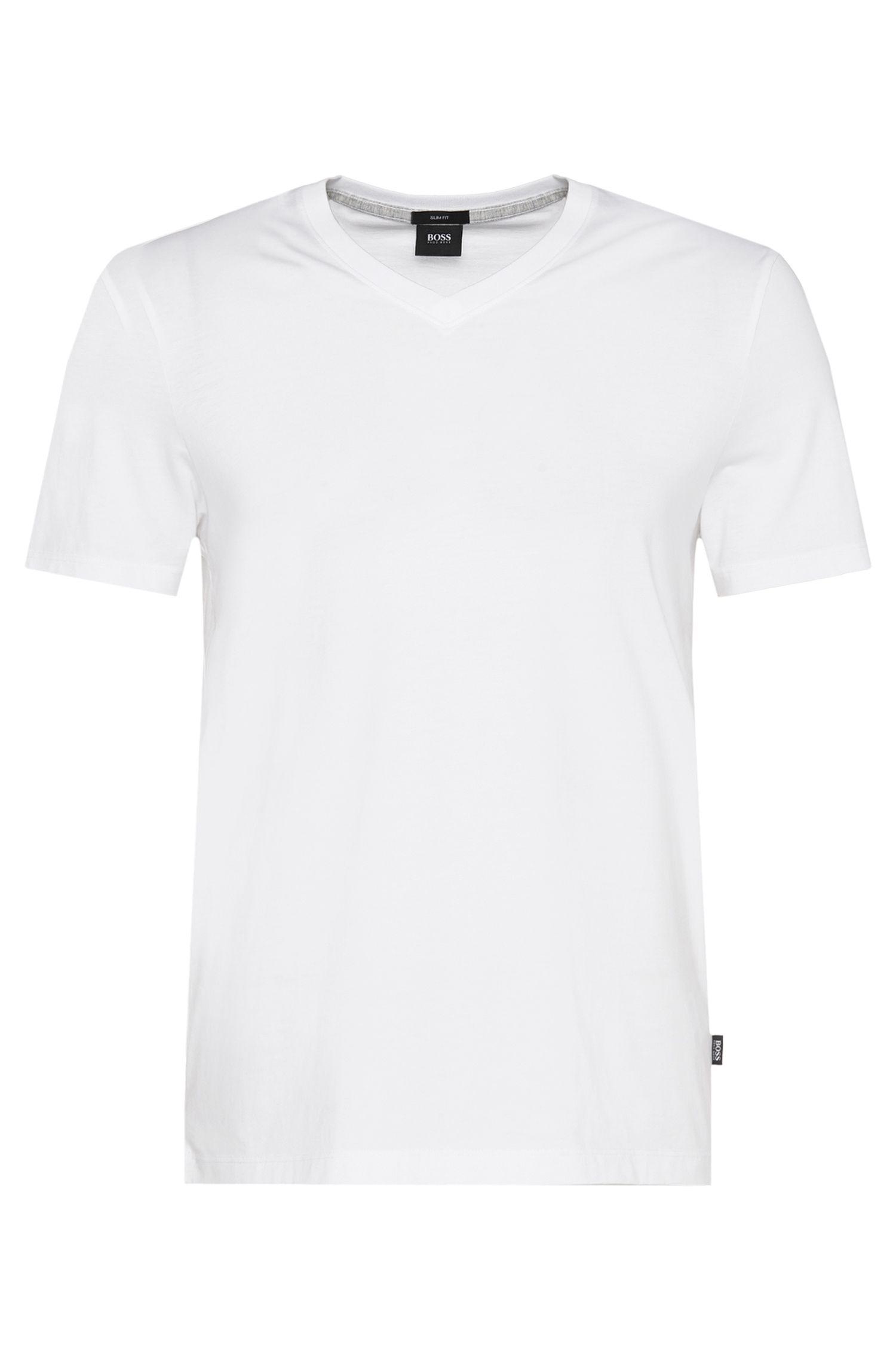 T-shirt Slim Fit en coton: «Teal 01»