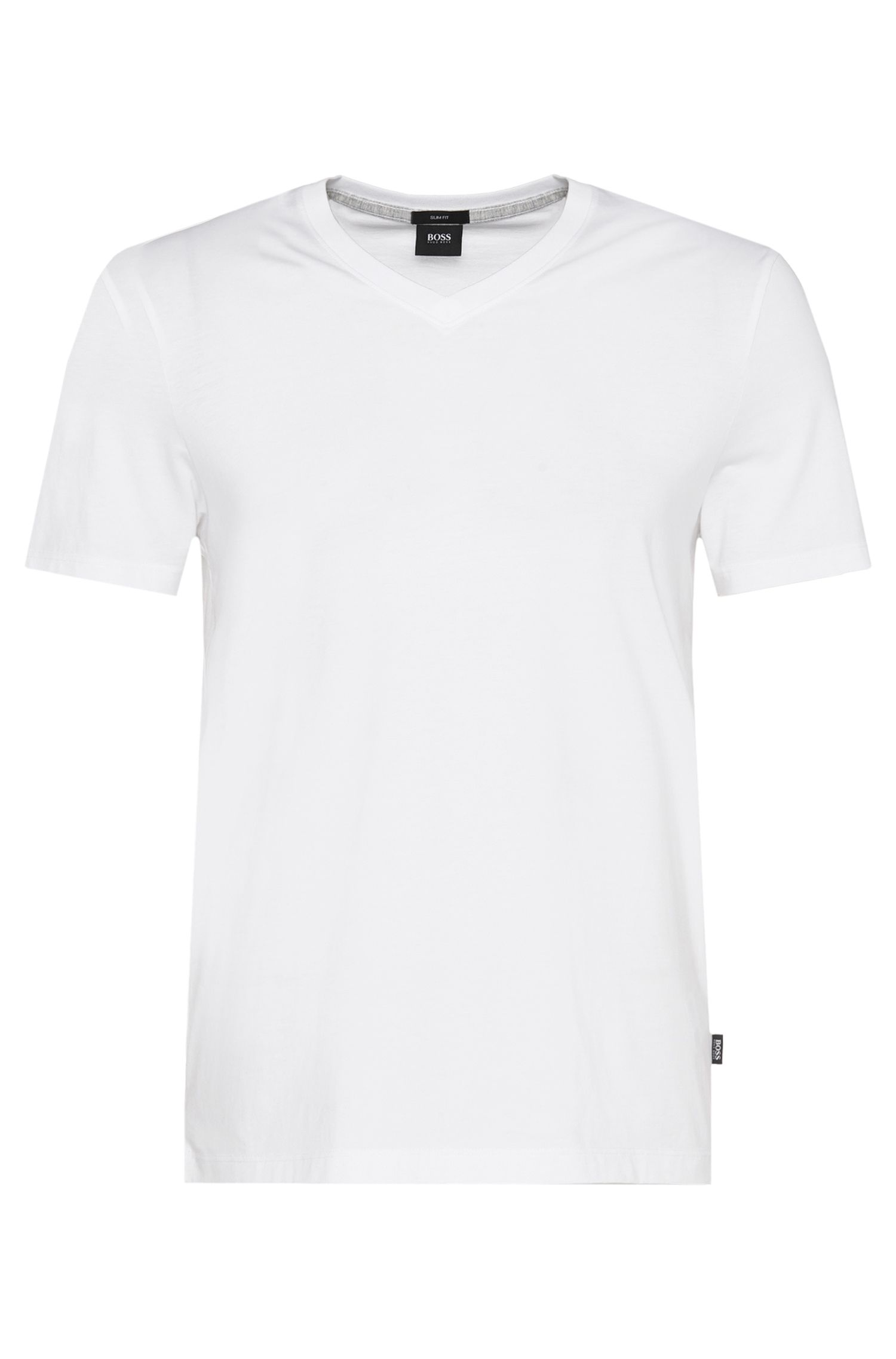 Slim-fit t-shirt in cotton: 'Teal 01'
