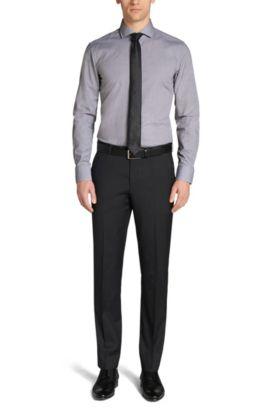Slim-Fit Hemd aus Baumwolle: 'Jason', Dunkelbraun