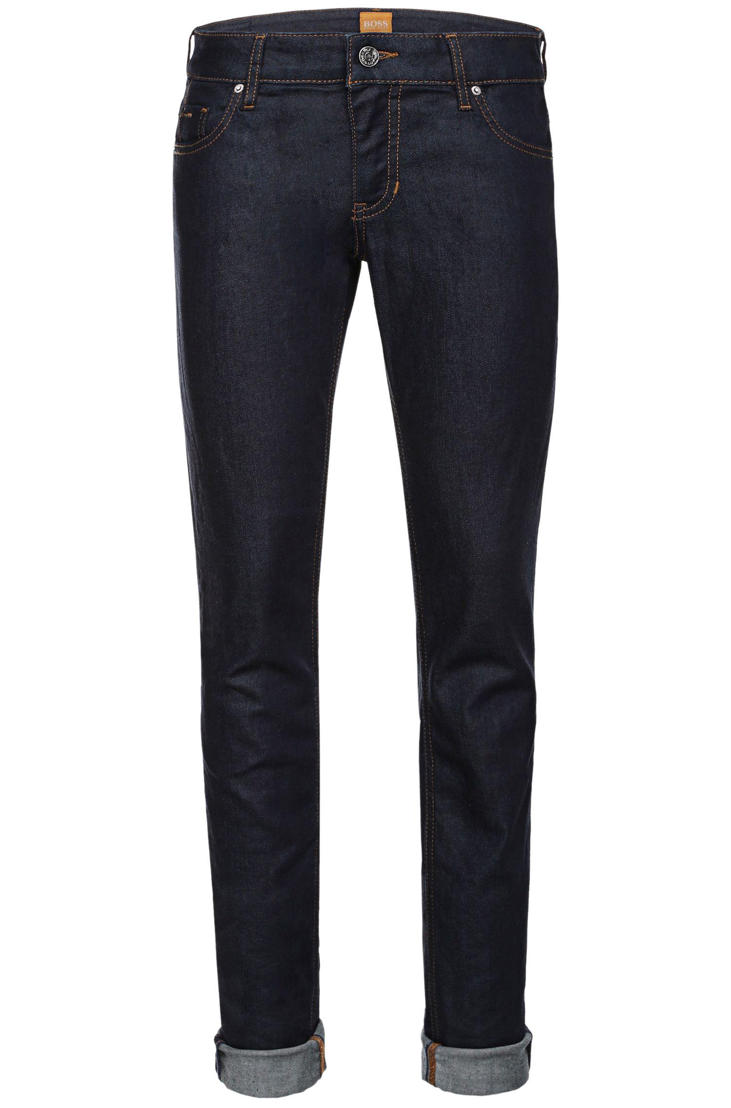 Slim-fit jeans in stretch-cotton blend: 'Orange J20'