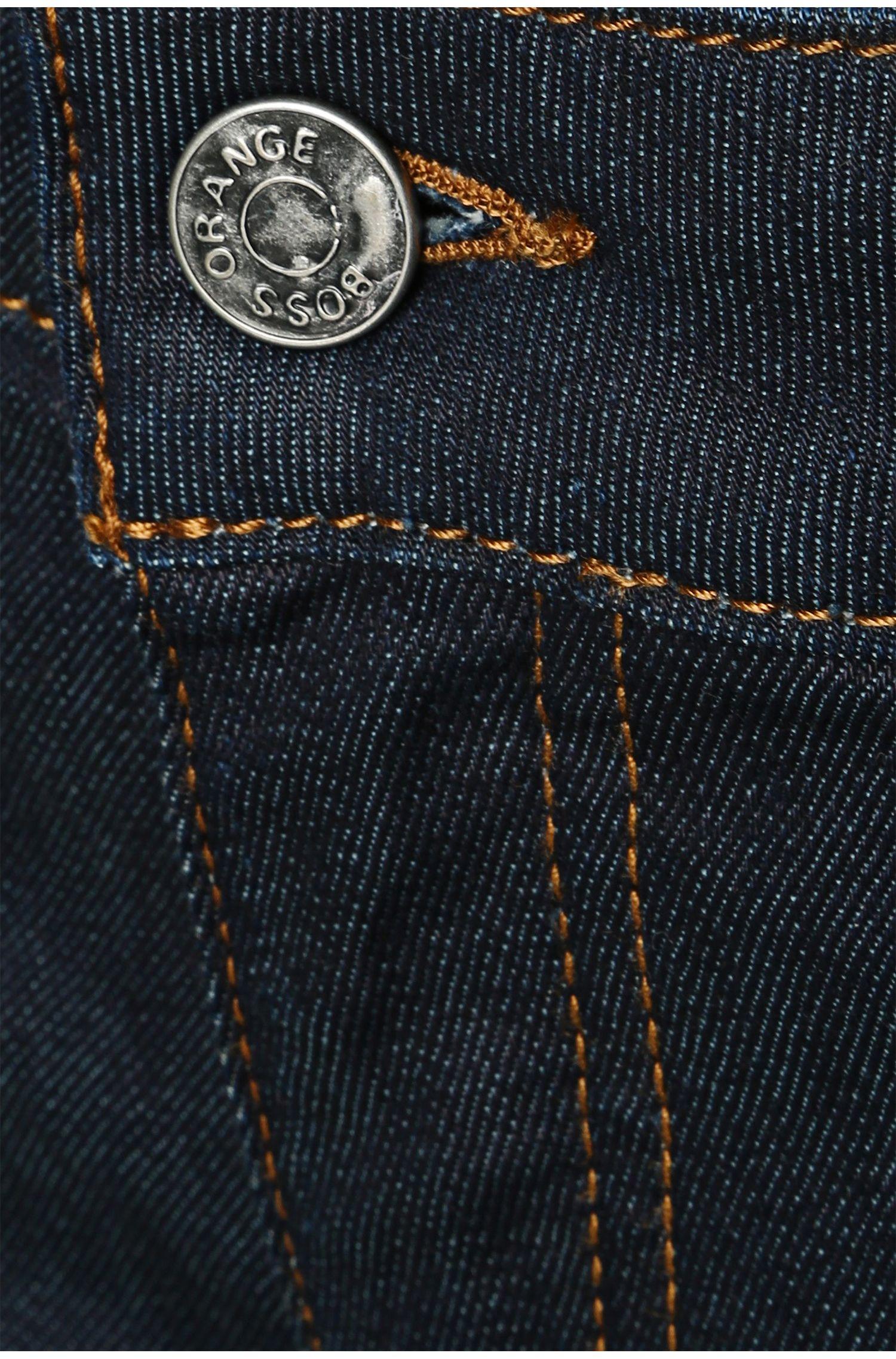 Slim-fit jeans van een elastische katoenmix: 'Orange J20'