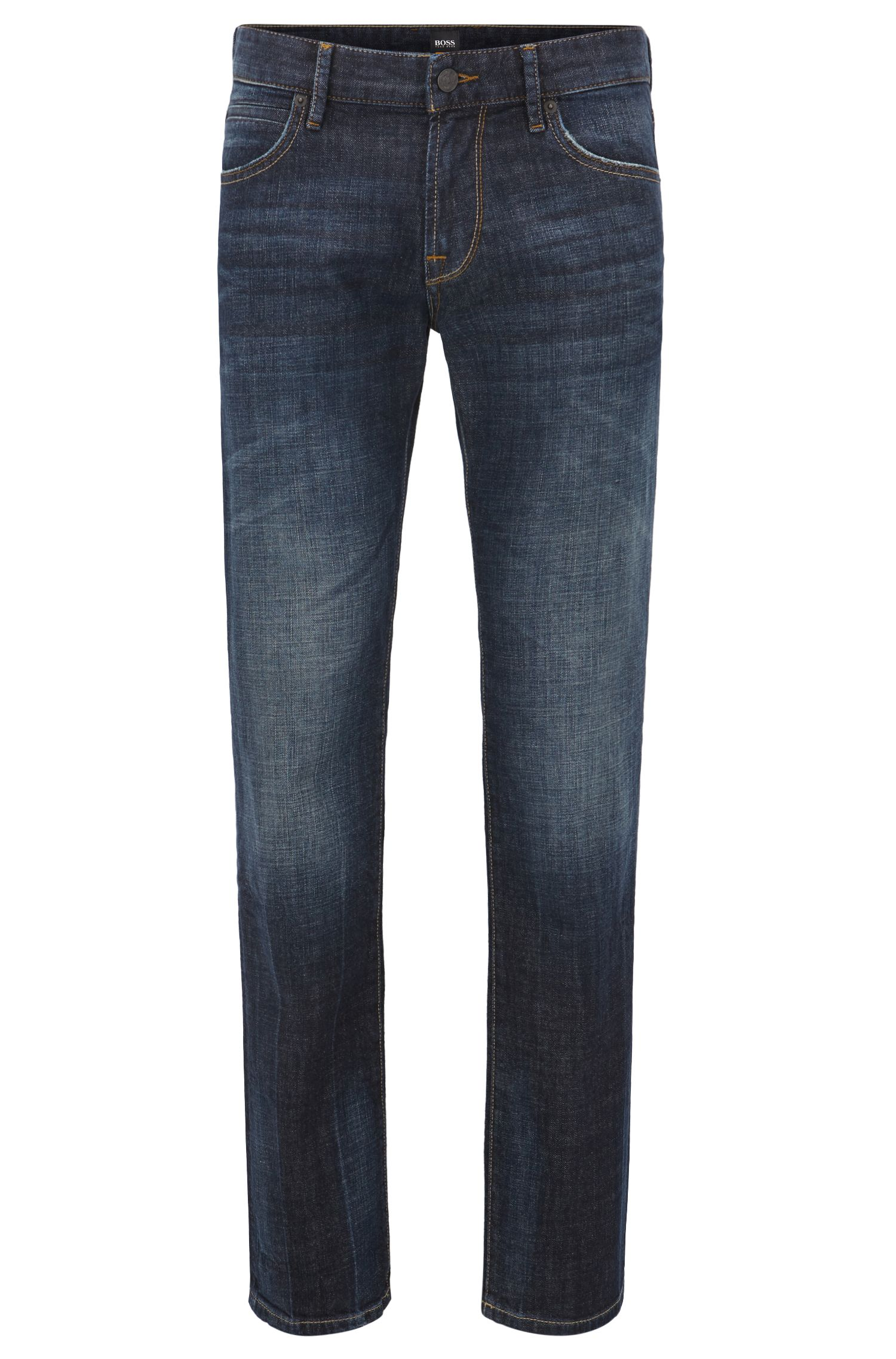 Regular-fit jeans with vintage finish