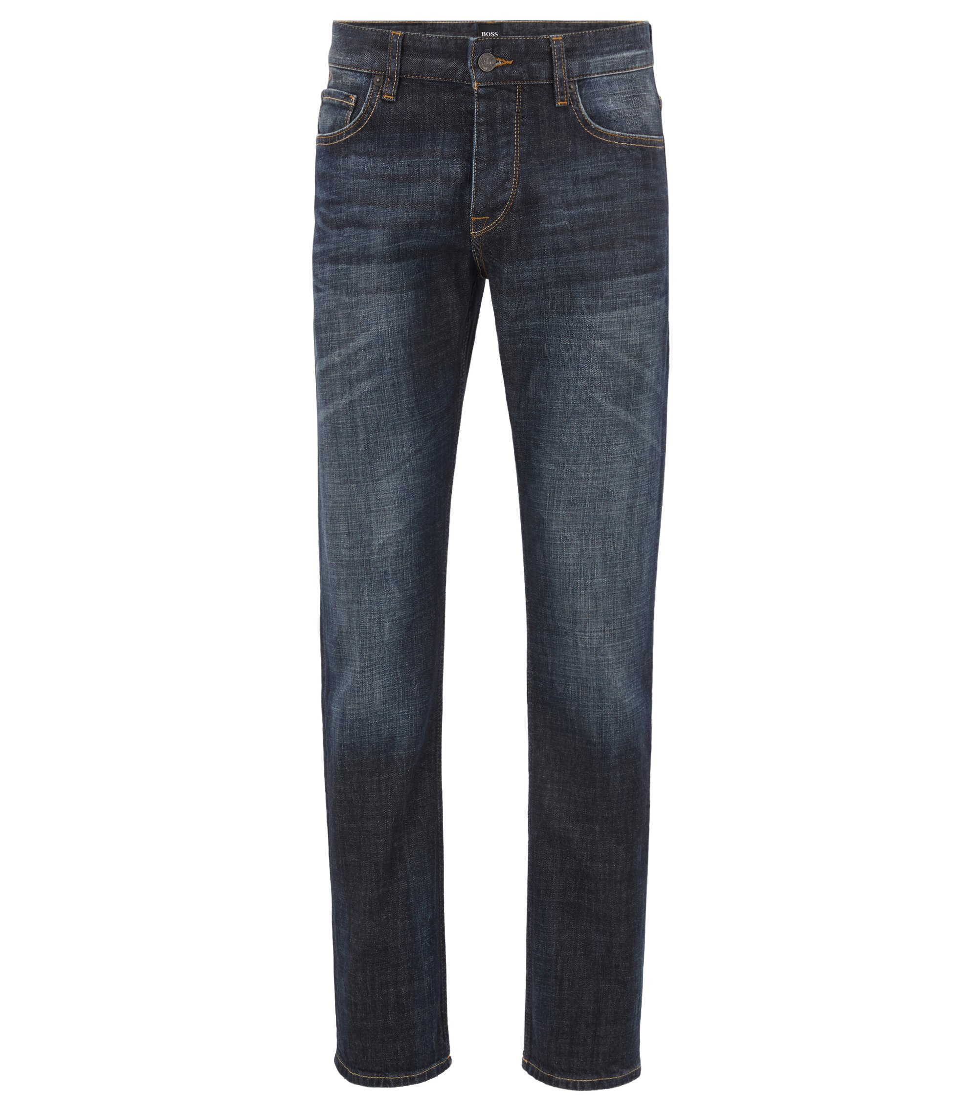 Regular-Fit Jeans aus weichem Stretch-Denim , Dunkelblau