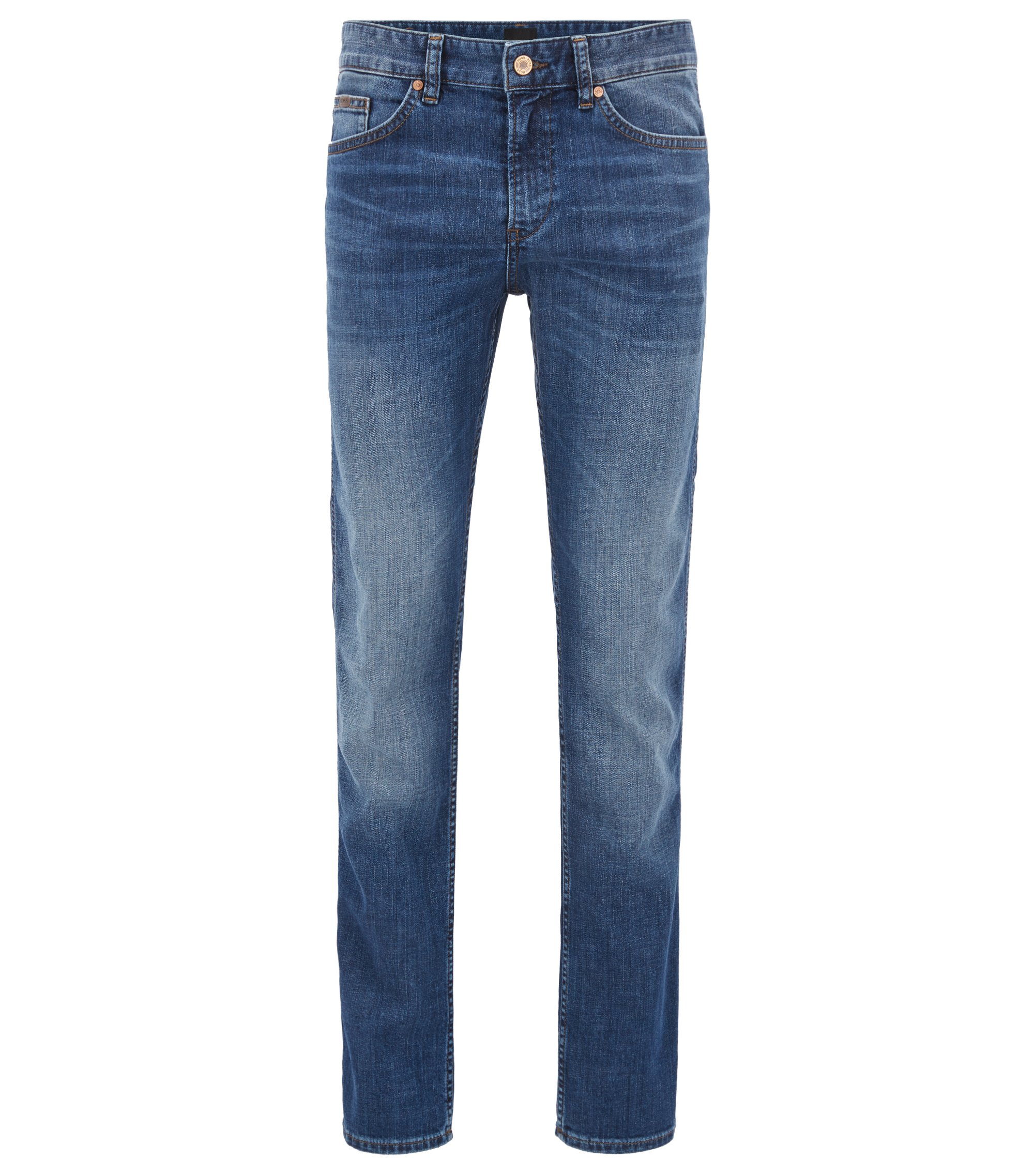 Slim-Fit Jeans aus stretchigem Baumwoll-Mix: ´C-Delaware1`, Blau