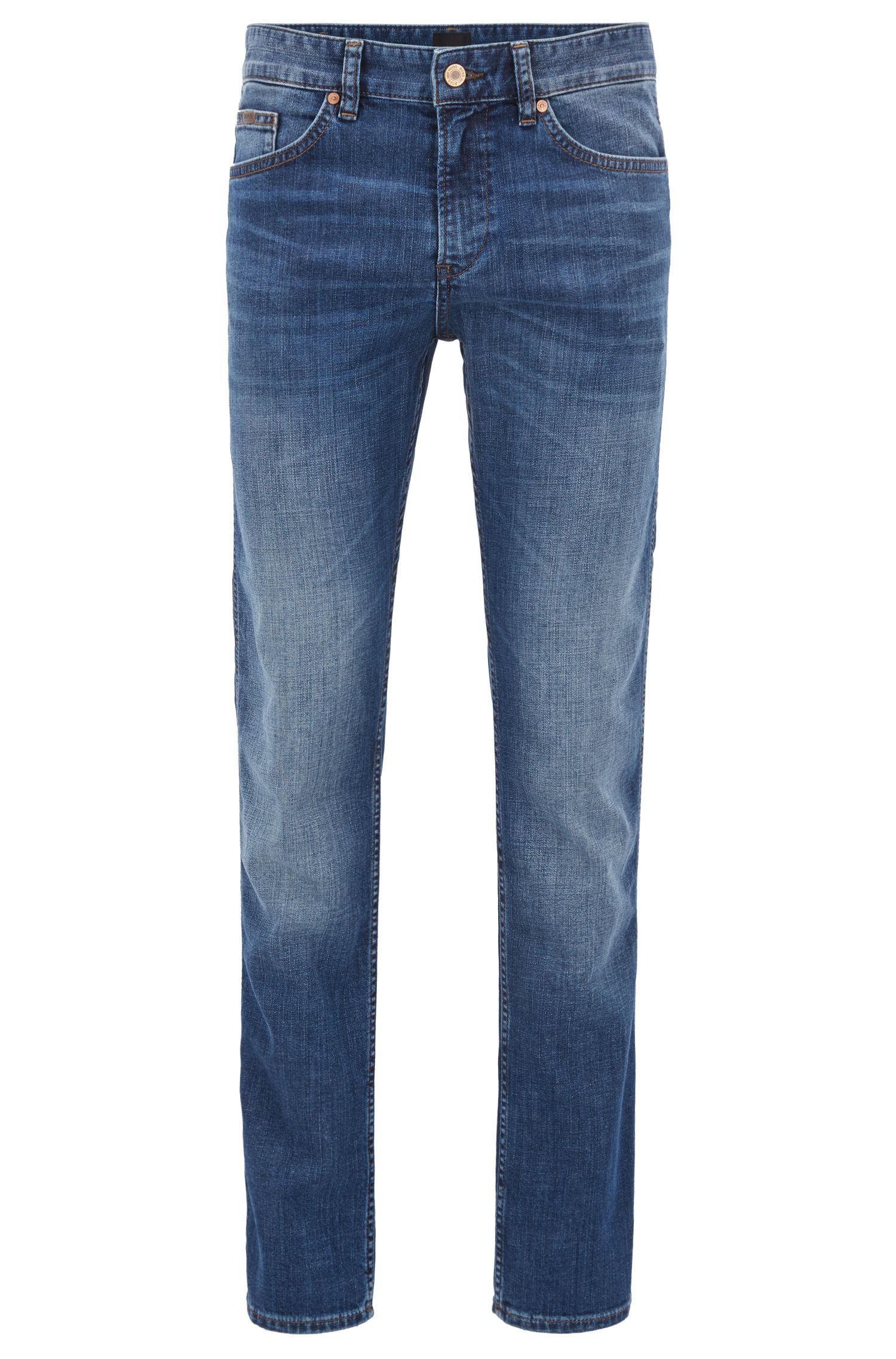 Slim-fit jeans in stretch cotton blend: 'C-Delaware1'