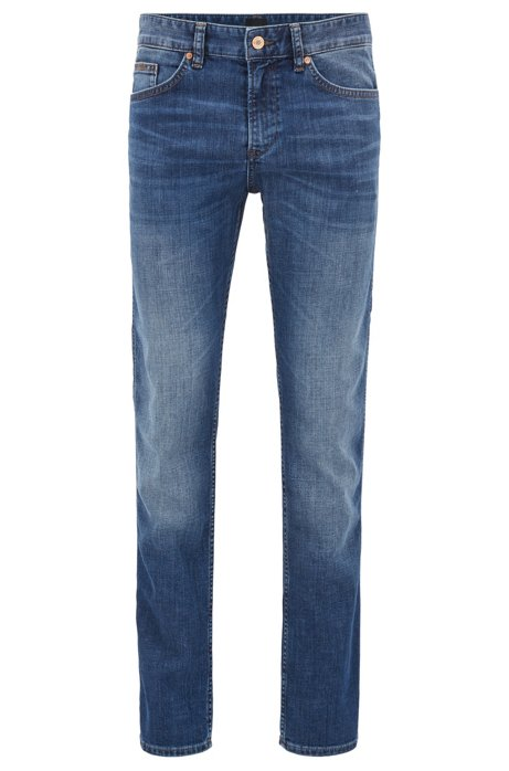 Slim-fit jeans in stretch cotton: C-DELAWARE1 BOSS New Arrival V8Ff8dv