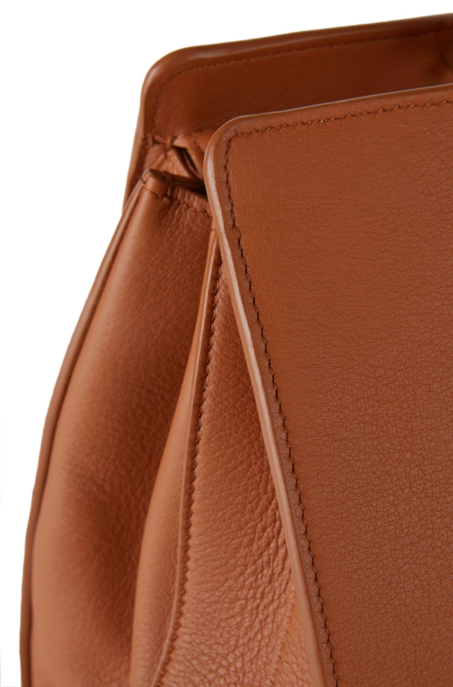 Handtasche aus Leder: 'Berlin T. Handle M', Braun
