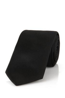 Stropdas van zijde: 'Tie 6 cm', Zwart