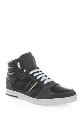 High-Top Sneaker aus Leder: ´Ray Pack Mid I`, Dunkelblau