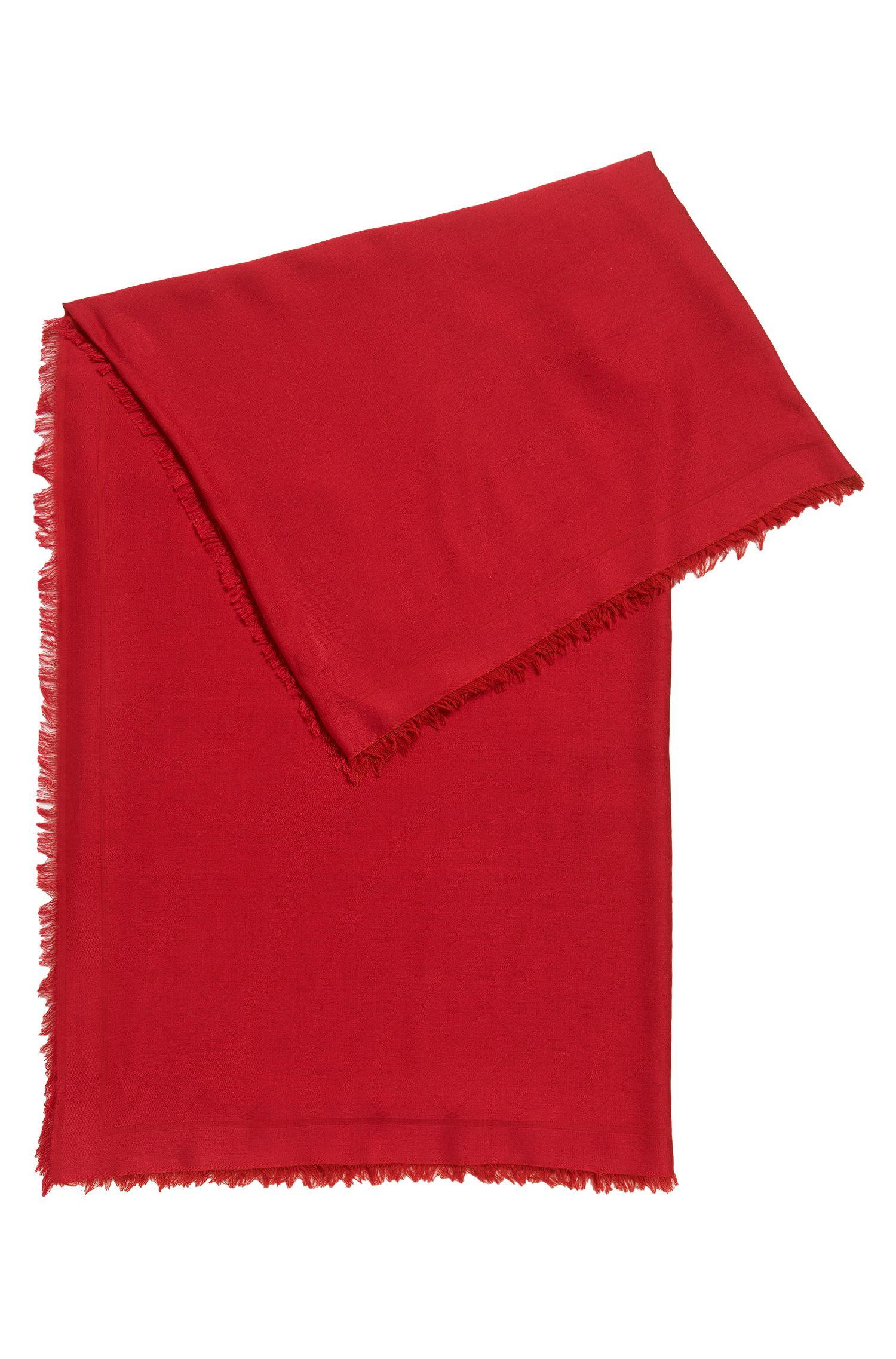 Jacquard-Schal mit Ton in Ton gehaltenem Logo-Muster