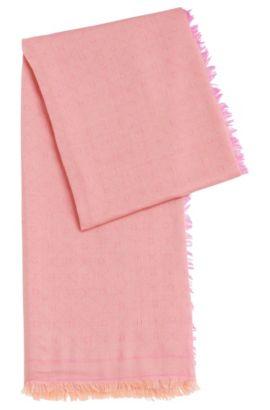 Jacquard-Schal mit Ton in Ton gehaltenem Logo-Muster, Hellrot