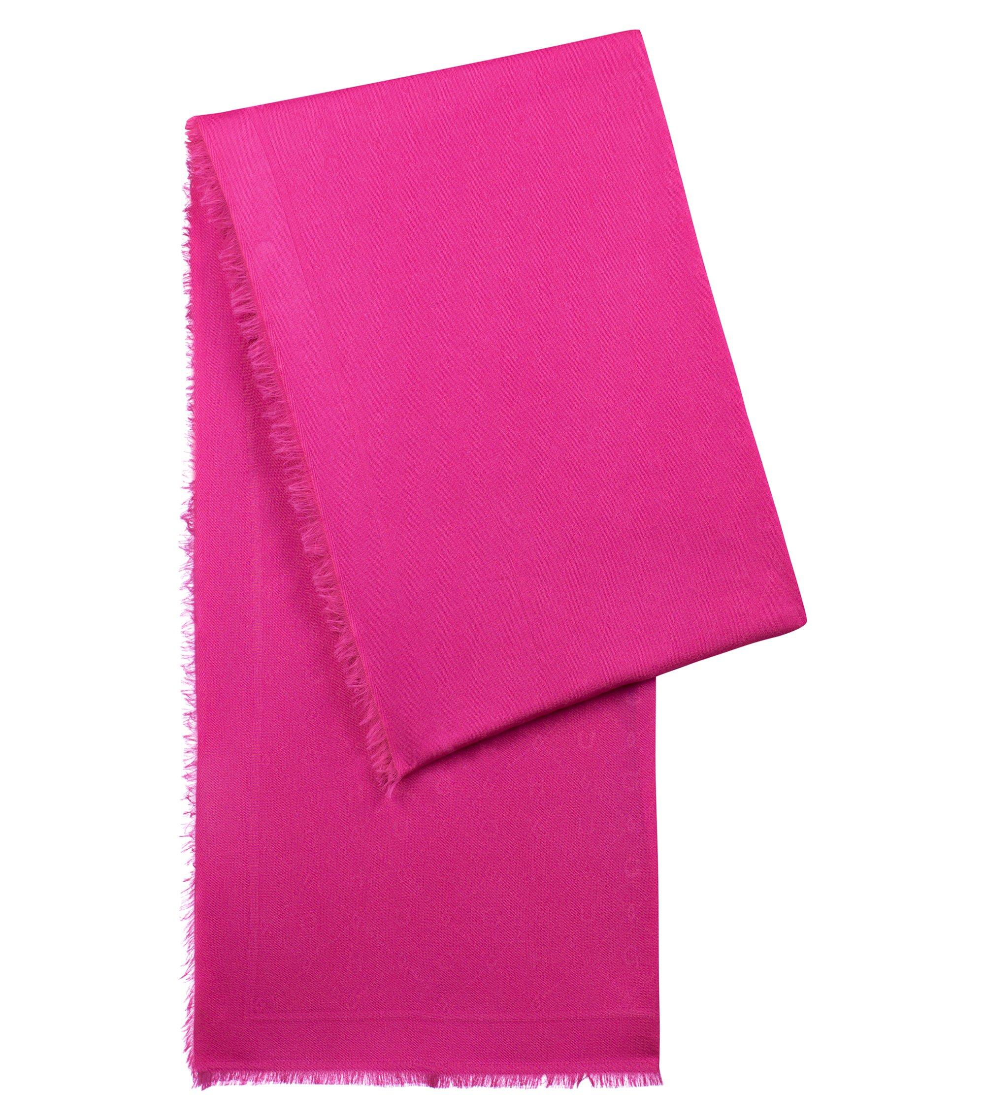 Jacquard-Schal mit Ton in Ton gehaltenem Logo-Muster, Pink