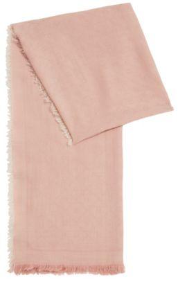 Sciarpa jacquard con motivo con logo tono su tono, Rosa chiaro