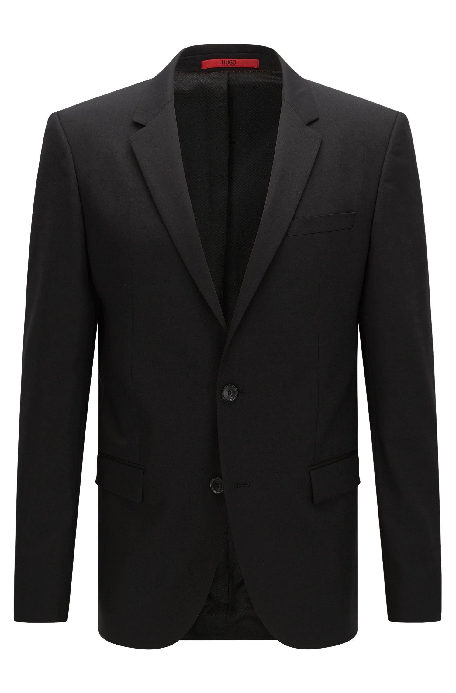 Slim-fit suit jacket in a wool blend