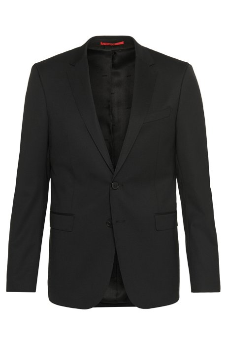Extra-slim-fit suit in new-wool blend: 'C-RyanDNL', Black