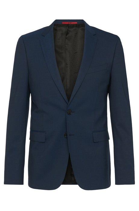 Extra-slim-fit suit in new-wool blend: 'C-RyanDNL', Dark Blue