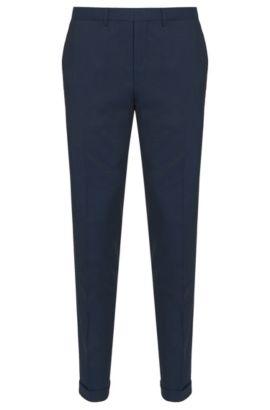 Pantalon extra Slim Fit en laine vierge mélangée: «C-WinDNL», Bleu foncé