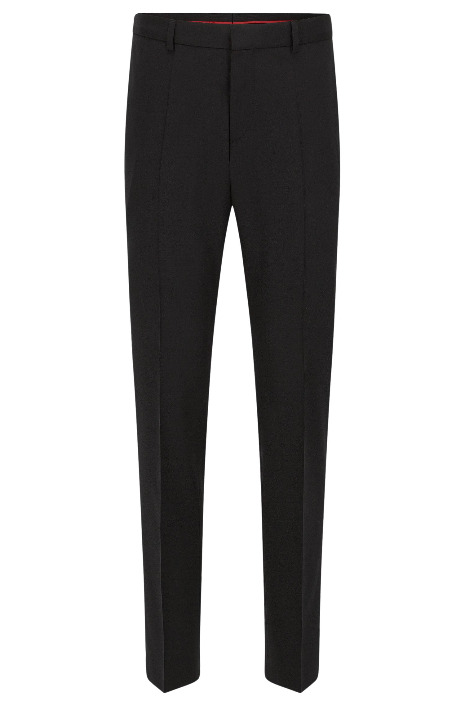 Slim-leg trousers in a wool blend