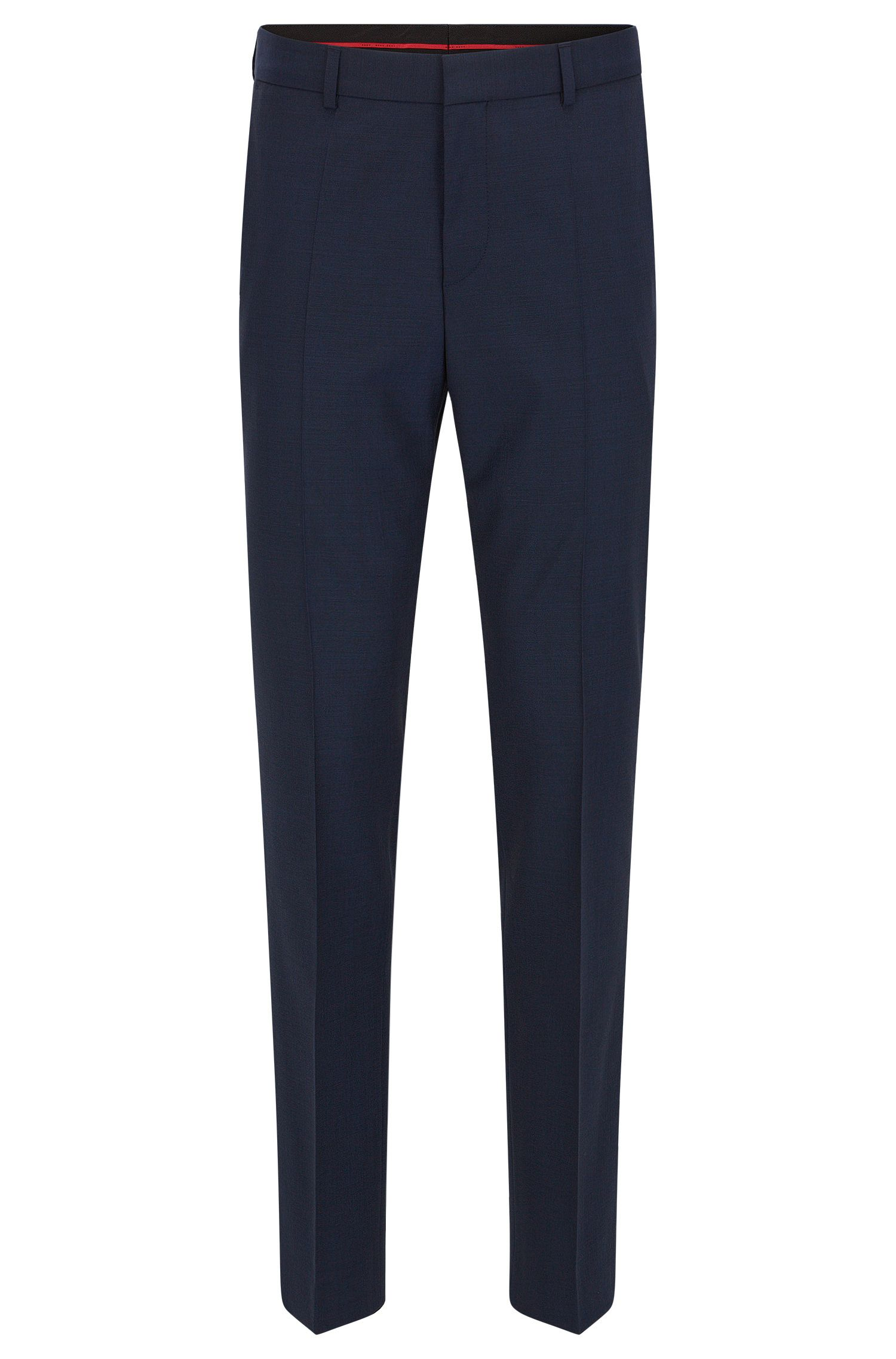Pantaloni con gamba slim in misto lana