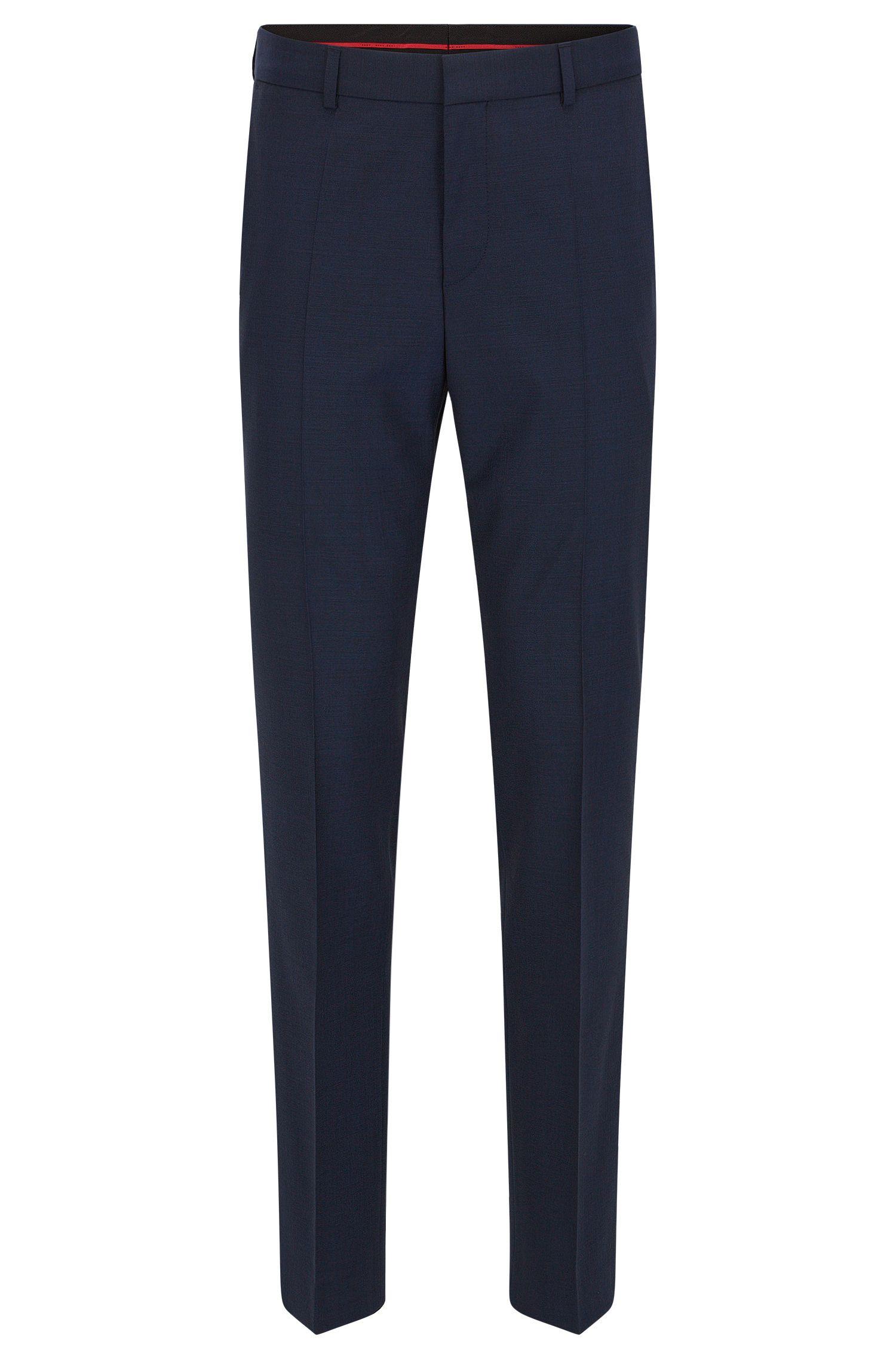 Pantalon à jambes slim en laine mélangée