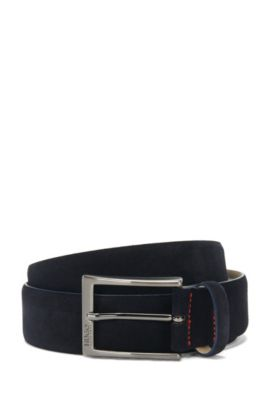 Suede belt: 'C-Gabello', Dark Blue