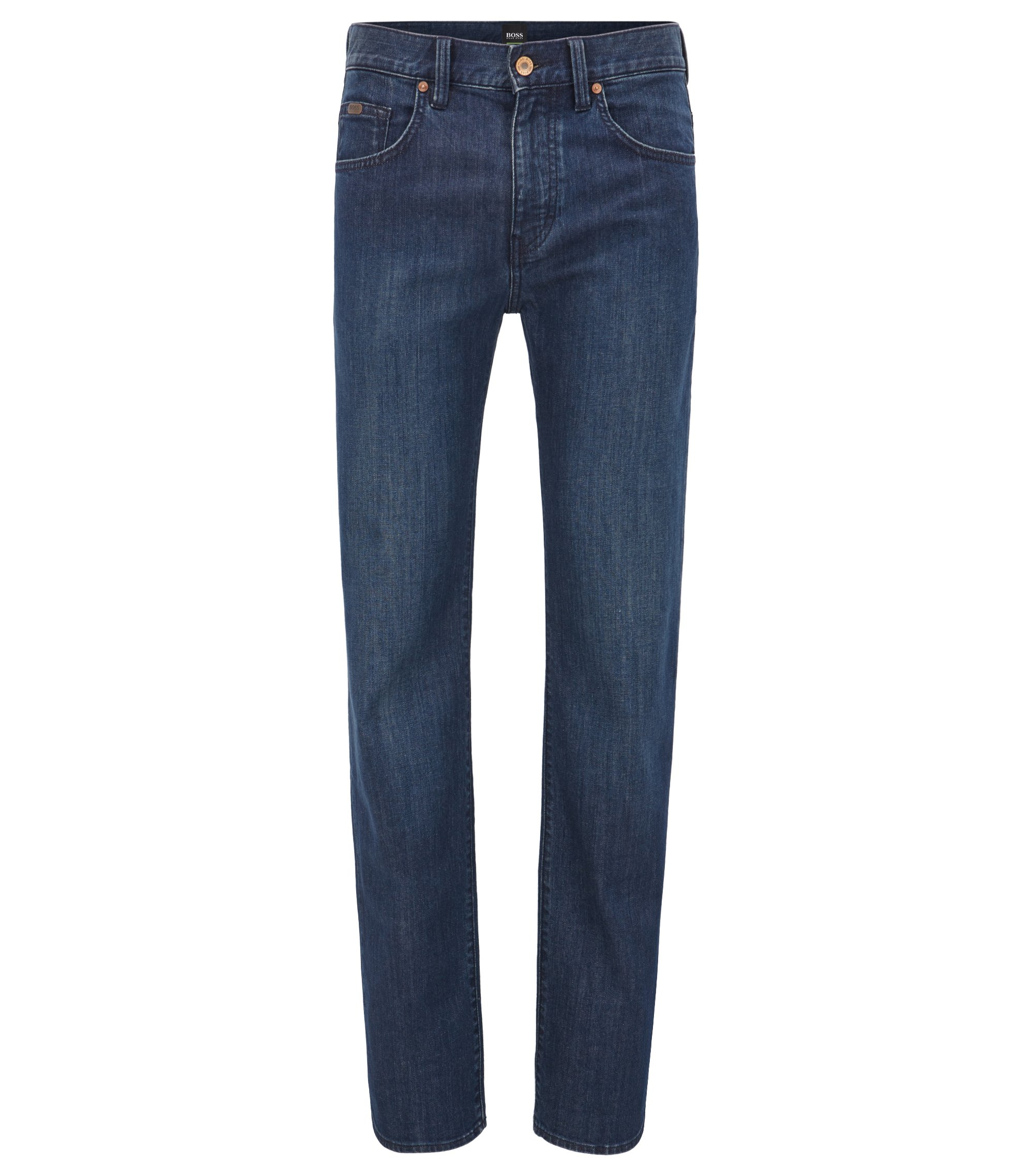 Relaxed-Fit Jeans aus Stretch-Denim mit geradem Beinverlauf, Dunkelblau