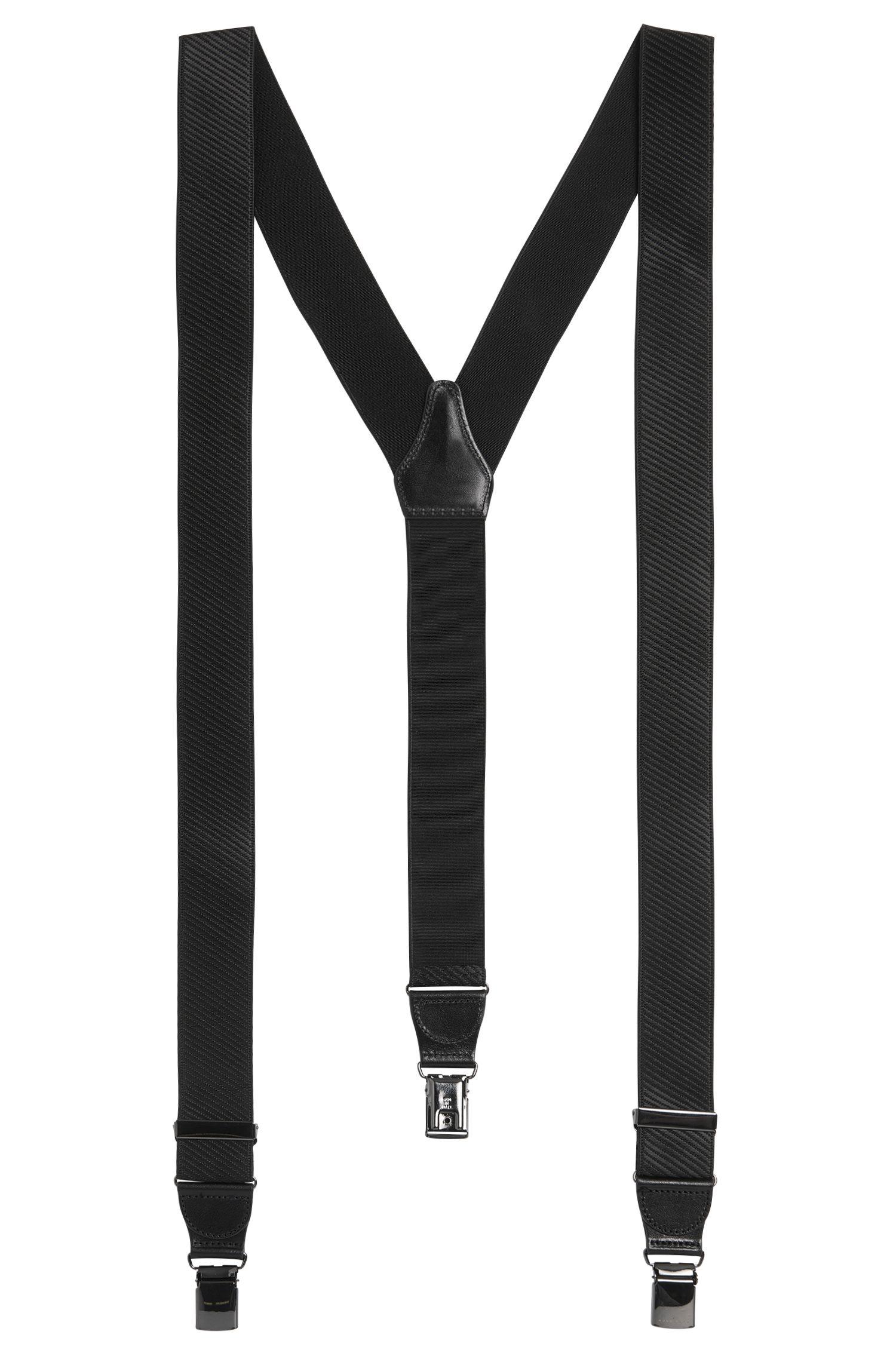 Hosenträger mit Leder-Besätzen: 'Bratino'