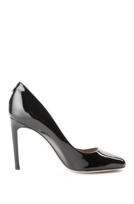 Leather pumps with a kitten heel: 'Staple R100-P', Black